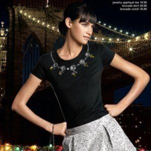 Behnaz Sarafpour Target Jewel Embellished Tee (S)